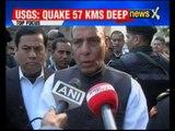 Earthquake jolts NE: Home Minister Rajnath Singh takes stock of quake in North East