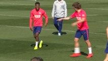 Atlético - Griezmann et Lemar tout sourire à l'entraînement