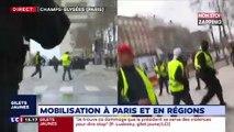 Gilets jaunes : premières tensions sur les Champs-Élysées pour l'Acte 16 (vidéo)