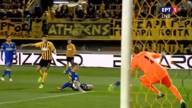 Aris requests a penalty (29') - Aris vs AEK 02.03.2019 [HD]