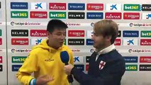 Wu Lei reaction after becoming first Chinese player to score in La Liga
