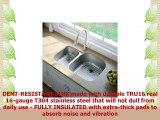 Kraus KBU25 32 inch Undermount 4060 Double Bowl 16 gauge Stainless Steel Kitchen Sink