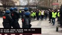 Un Gilet jaune blessé par un tir de flash-ball à Paris (vidéo)