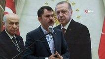 Çevre ve Şehircilik Bakanı Murat Kurum, STK'lar, muhtarlar, iş adamları, AK Parti Yönetimi, MHP Yönetimi, Meclis Üyeleri, Meclis Üyesi Adayları ve Akil İnsanlarla kahvaltı buluştu