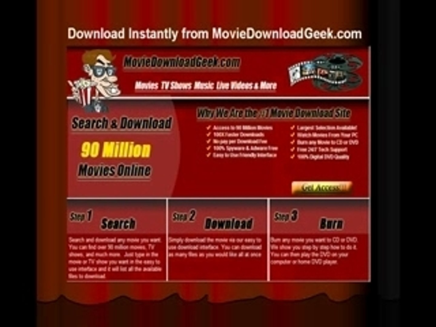 Download Movies Online & Burn Movies to DVD