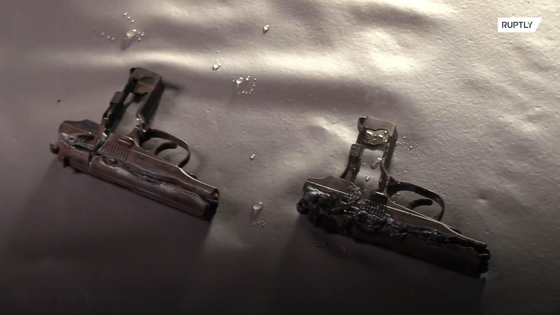 Трофейное оружие переплавят и используют при строительстве храма