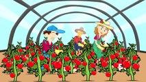 Fille et tondeuse à gazon - Vidéo de dessin animé Pour les Enfants Et les Tracteurs Pour les Enfants | Dziewczyna je Kosiarka