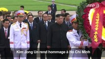 Kim rend hommage à Ho Chi Minh avant son départ de Hanoï