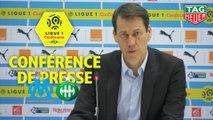 Conférence de presse Olympique de Marseille - AS Saint-Etienne (2-0) : Rudi GARCIA (OM) - Jean-Louis GASSET (ASSE) / 2018-19