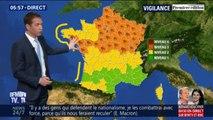 Météo: 43 départements sont placés en vigilance orange à cause de rafales de vents pouvant aller jusqu'à 110 km/h