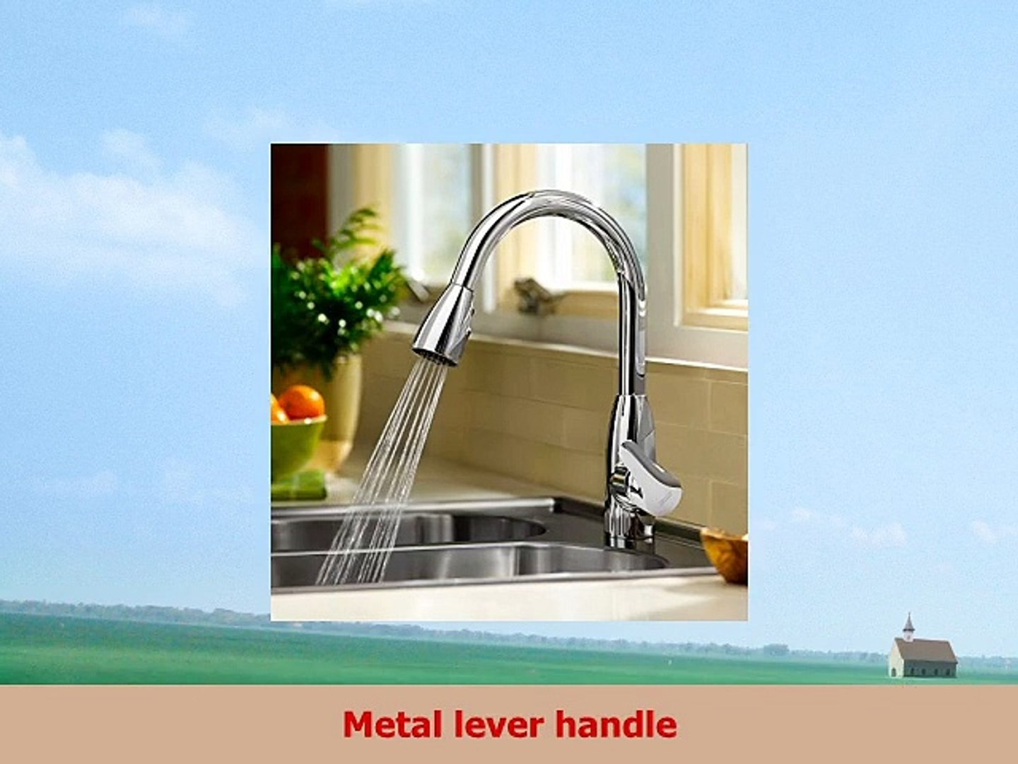 Kitchen Brass Public Drinking Fountain Faucet Water Filters,Polish Chrome