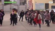 校長先生がキレキレ!中国の学校で行われているすごいダンス
