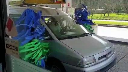 Ils se sont déguisés en rouleaux de lavage auto !