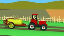 Farm work story - The tractor is spraying the field | dessins Animés Tracteur - le Travail dans la Zone de Pulvérisation