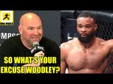 MMA Community reacts to Tyron Woodley getting completely dominated by Kamaru Usman,Dana White