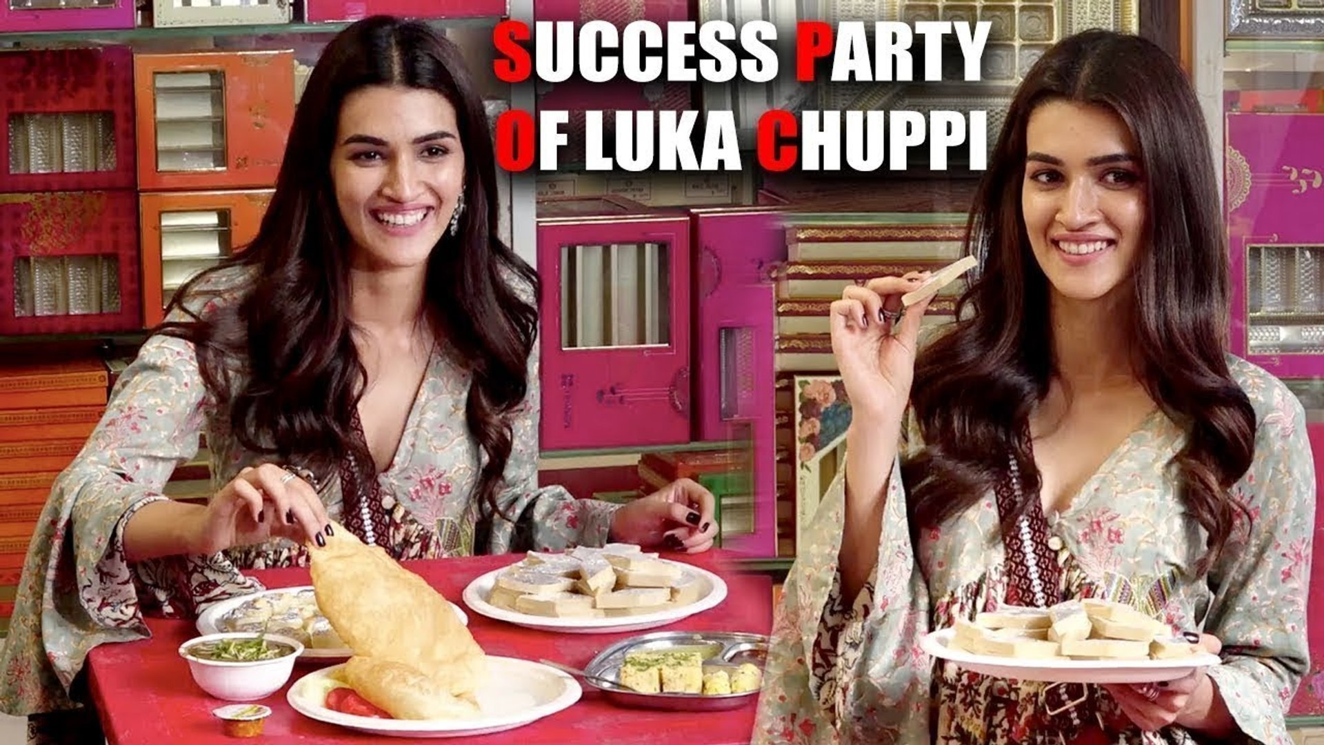 Kriti Sanon CHILLOUT - Luka Chuppi Movie Success Party - Biscoot TV