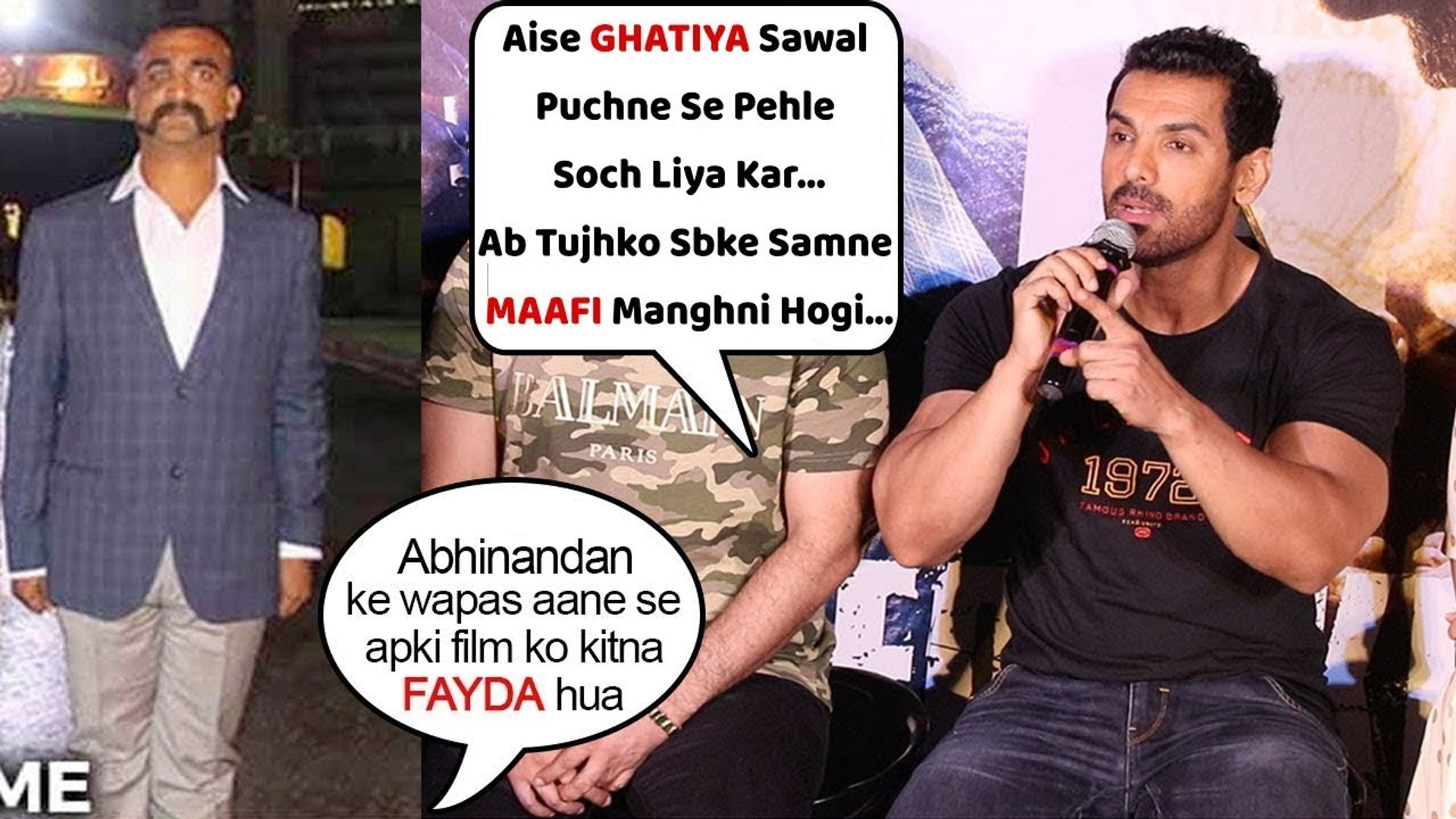 John Abraham Badly INSULTS Media Reporter For Asking STUPID Question