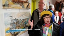 Au vernissage de l'exposition La Marine à Saint Pol sur Mer