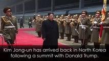 Kim Jong-un met with cheers following Trump summit