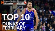 Turkish Airlines EuroLeague, Top 10 Dunks of February