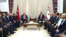 TBMM Başkanı Mustafa Şentop, KKTC Meclis Başkanı Uluçay ile bir araya geldi (1) - LEFKOŞA