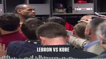LeBron James Micd Up Vs Kobe Bryant, Los Angeles Lakers