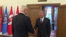 Ankara - Milli Savunma Bakanı Akar, ABD'nin Suriye Özel Temsilcisi James Jeffrey ile Bir Araya Geldi