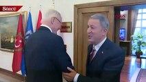 Milli Savunma Bakanı Hulusi Akar, ABD'nin Suriye Özel Temsilcisi James Jeffrey'i kabul etti