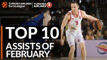 Turkish Airlines EuroLeague, Top 10 Assists of February