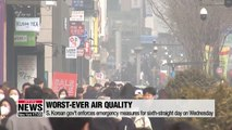 S. Korean government aims to solve worsening fine dust problem through diverse measures