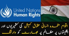 UN Human Rights Commission warns India on the Kashmiris and the minorities' oppression