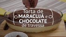 Torta de maracujá e chocolate de travessa | Receitas Guia da Cozinha