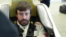 Fernando Alonso se hace el asiento para las 500 MIllas de Indianápolis