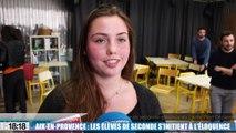 Aix-en-Provence : les élèves de seconde s'initient à l'éloquence
