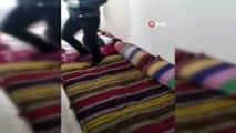 Evdeki şok görüntü polis baskınıyla ortaya çıktı