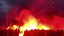 Les supporters du PSG déja très chauds avant le choc face à Manchester United