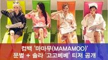 마마무(MAMAMOO) 신곡 '고고베베' 문별 + 솔라 티저 공개