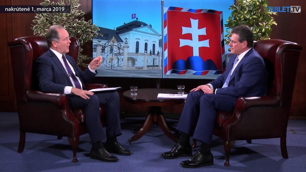 ŠEFČOVIČ: Chcem spojiť rozhádané Slovensko