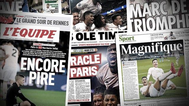Le match PSG-Manchester United régale la presse anglaise