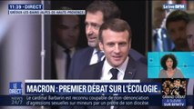 Emmanuel Macron arrive au grand débat sur l'écologie à Gréoux-les -Bains, en Alpes-de-Haute-Provence