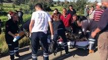 - Kazada yaralanan çocuğuna yetişmeye çalışırken bir başka kazada öldü- Meydana gelen iki kazada 2 kişi hayatını kaybetti, 11 kişi yaralandı