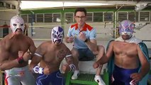 World Rally star tries out Mexican wrestling ahead of Mexico rally