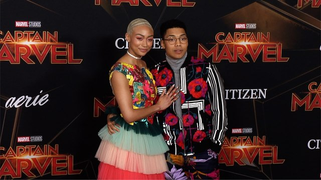"Tati Gabrielle, Chance Perdomo ""Captain Marvel"" World Premiere Red Carpet"