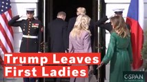 Watch:  Trump Leaves First Ladies Hanging Outside White House During Czech Leader's Visit