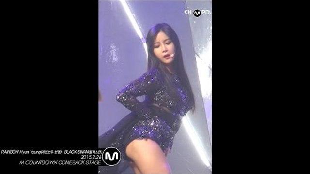 [MPD직캠] 레인보우 현영 직캠 블랙스완 BLACK SWAN RAINBOW Hyun Young Fancam Mnet MCOUNTDOWN 150226