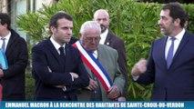 """Grand débat : """"Il faut aller au bout de ce processus"""" affirme Emmanuel Macron à Sainte-Croix-du-Verdon"""