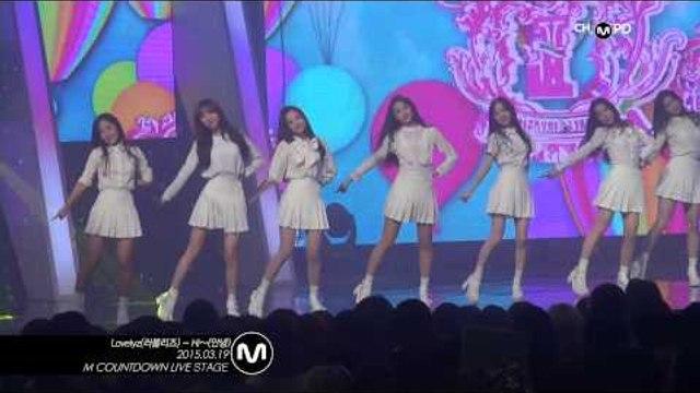 [MPD직캠] 러블리즈 직캠 안녕 Hi~ Lovelyz Fancam Mnet MCOUNTDOWN 150319