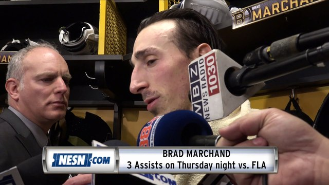 Brad Marchand Bruins vs. Panthers Postgame Availability