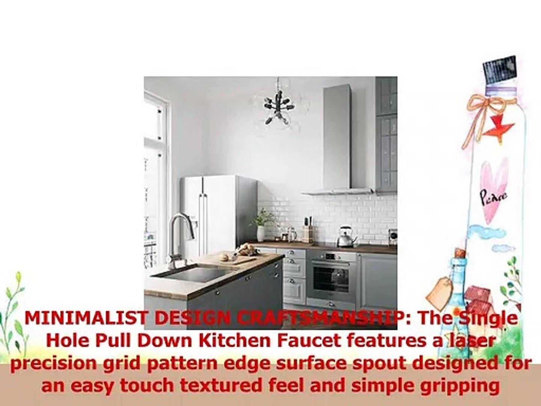 Vigo Laurelton Pull Down Spray Kitchen Faucet In Matte Black vigo vg02008st gramercy 17 inch single handle pulldown arc brass kitchen  sink faucet