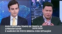 Primeiro Impacto - Dudu Camargo estoura tempo e Marcão do Povo brinca com situação (30/01/2019) | SBT